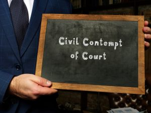 How to Keep from Being Charged with Contempt of Court in New Jersey