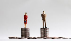 What is considered when equitably splitting up marital assets?